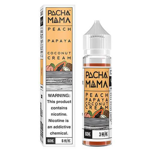Patcha Mama - Peach Papaya Coconut Cream box with bottle