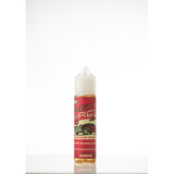 Cream Vapor 485 Raspberry Beignet E-liquid bottle, opaque bottle with red label