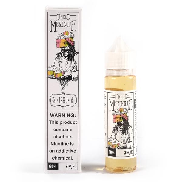 Uncle Meringue E-Liquid by charlies chalk dust box and bottle