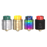Vandy Vape Bonza RDA in silver and green, gold and yellow, neon rainbow and black and red