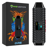 The Dre Portable Dry Herb Vaporizer next to box