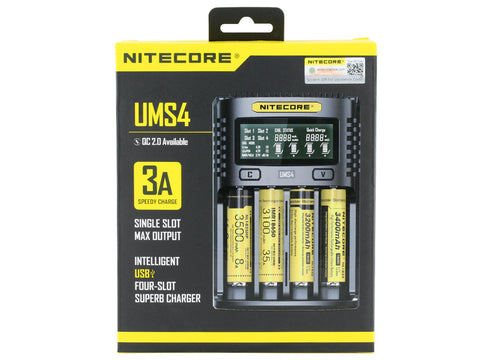 Nitecore UMS4 3A USB Charger 4 Bay