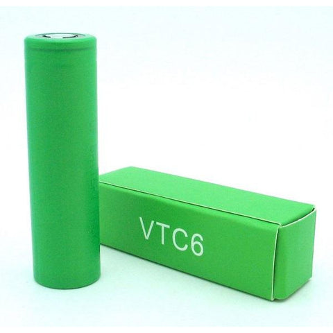 Sony VTC6 lime green batteries