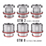 GTM Coils components, different sizes