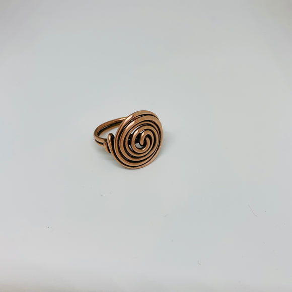 Copper circle ring