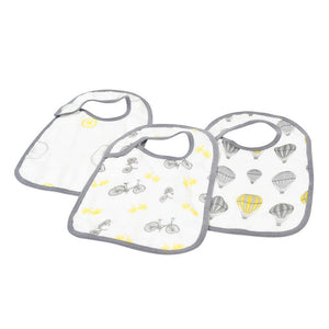 Traveler Snap Bibs - set of 3