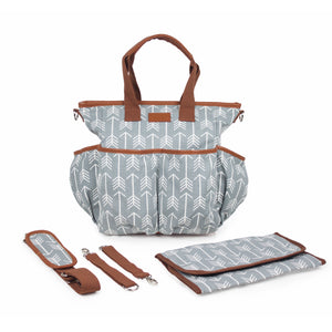 Arrow Print Canvas Diaper Bag