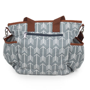 Arrow Print Canvas Diaper Bag - Baby Bear Outfitters