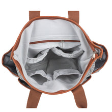 Gray Striped Canvas Diaper Bag - Baby Bear Outfitters