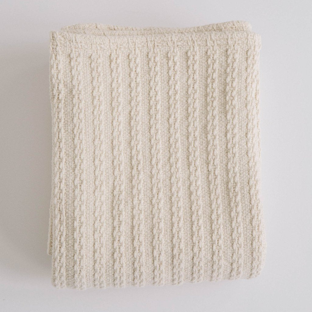 Cable Knit Baby Blanket - Baby Bear Outfitters