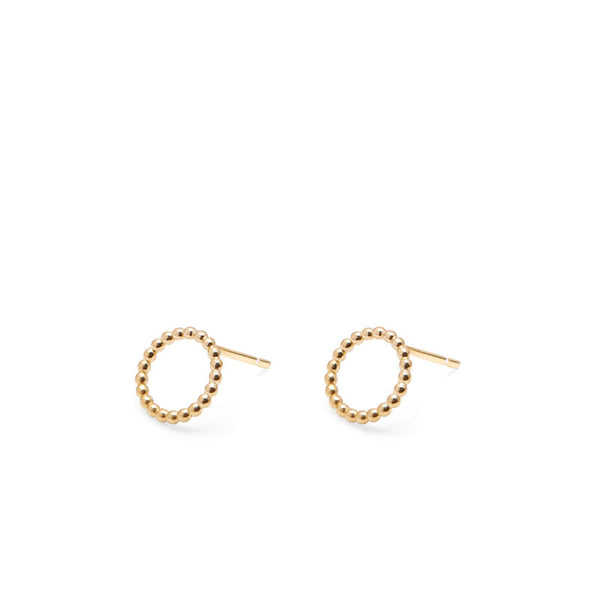 MINI CIRCLE BALL STUD EARRINGS - GOLD