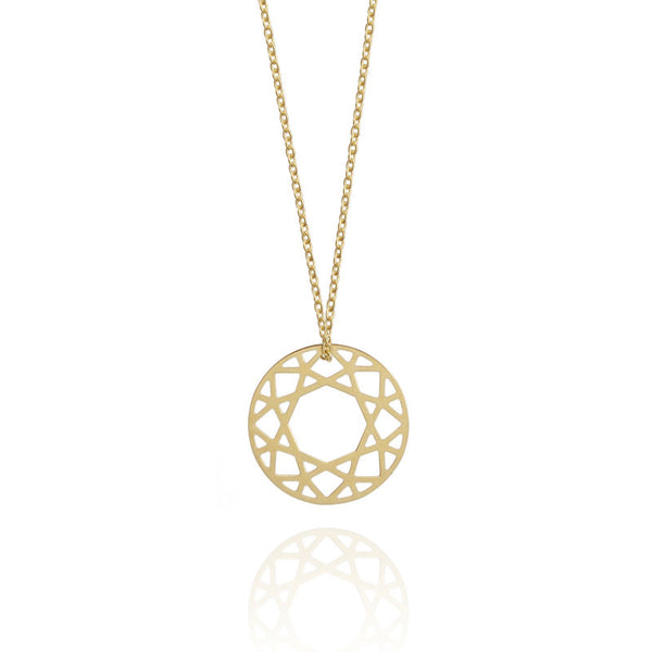 SMALL BRILLIANT DIAMOND NECKLACE - GOLD