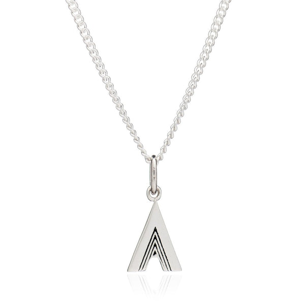 A INITIAL NECKLACE - SILVER
