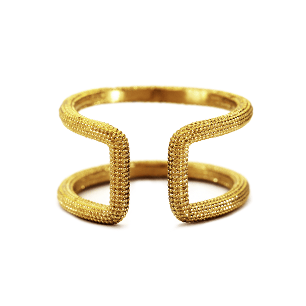 MAXILLA 18CT YELLOW GOLD OPEN RING