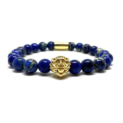 Blue Sediment | 18kt Gold Plated Royal Lion Head