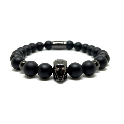 Black Rhodium Plated Iron Man | Matte Agate
