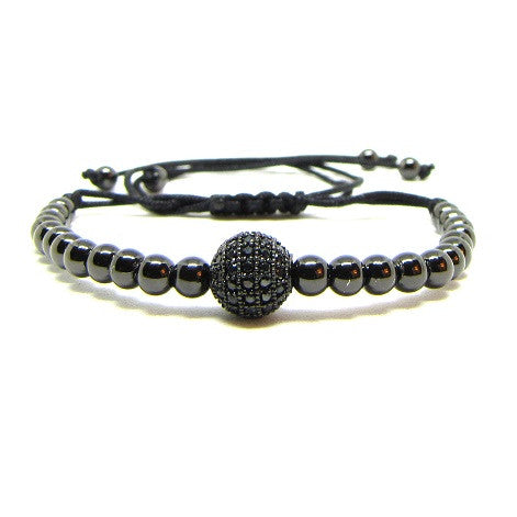 Black Rhodium Plated Beads | Black CZ Ball