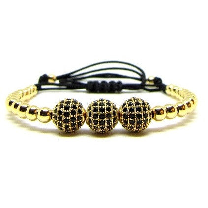 18kt Gold Plated Beads | CZ Balls