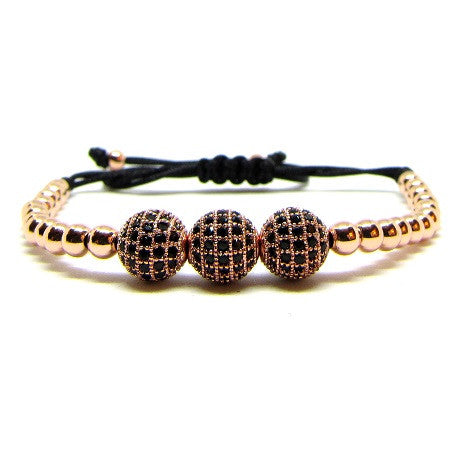 18kt Rose Gold Plated Beads | CZ Balls