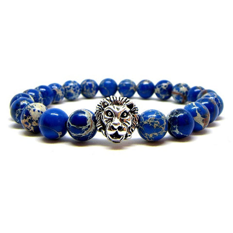 Prestige Sea Blue Sediment | Silver Plated Lion Head