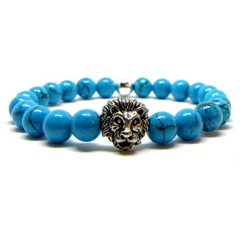 Prestige Light Blue Sediment | Silver Plated Lion Head
