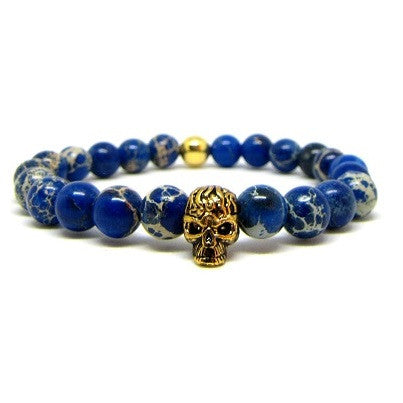 Sea Blue Sediment | Gold Plated Skull 2.0