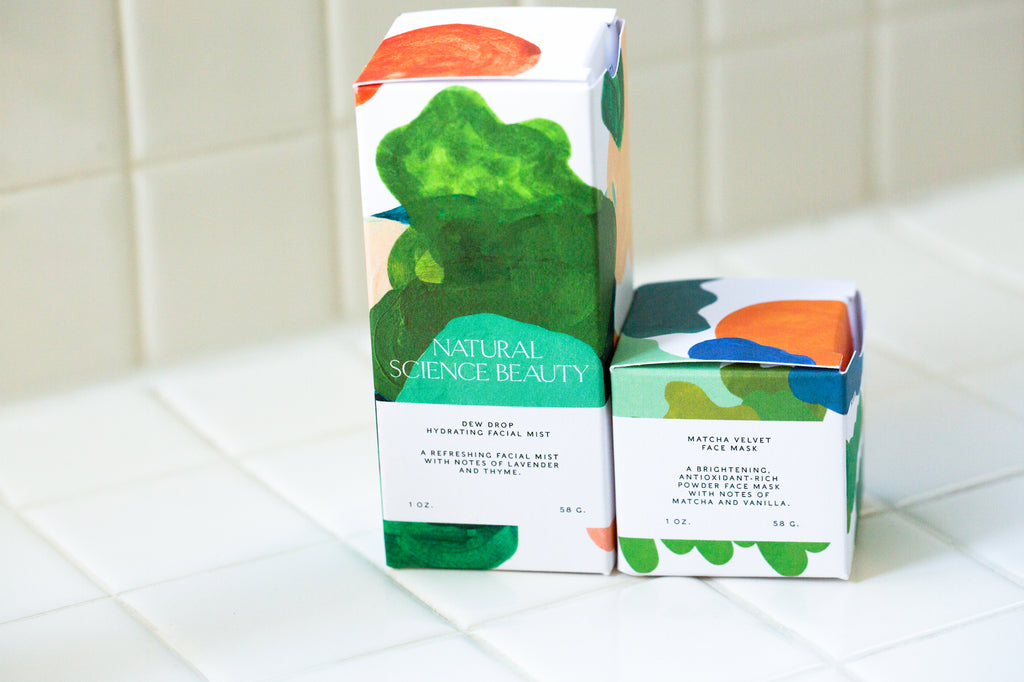 Dew Drop Facial Mist and Macha Velvet Mask Travel-Sized Box Kit