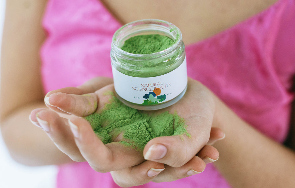 tea bar matcha powder face mask