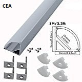 LED Aluminum Channels With Diffuser,  Wide LED Light strip Light Mounting CEA146