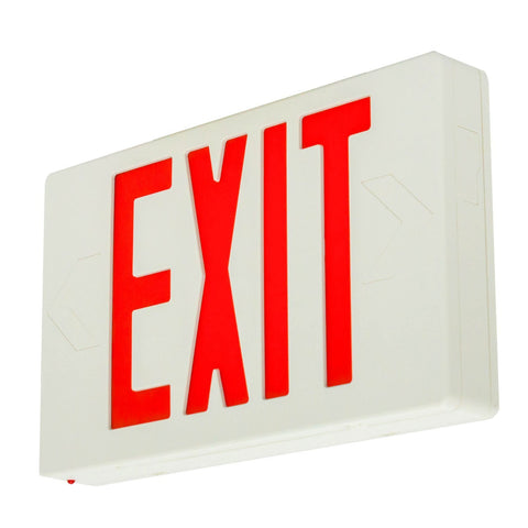 Hardwired  LED Exit Emergency Sign Light - Standard - Battery Backup