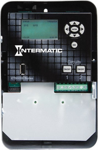 Intermatic - 2 Circuit, 1 NEMA Rating, SPDT, Indoor Electronic Timer Switch