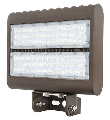 Westgate Lighting Outdoor LED Flood Light Fixture Yoke Mount - Shoebox Street Area Parking Pole Security Floodlights - 120-277V - IP65 Waterproof UL Listed DLC Approved (150 Watt, 5000K Cool White)