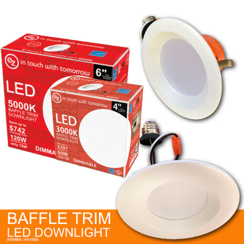 LED BAFFLE Trim Down light ELECTRIC ZONE