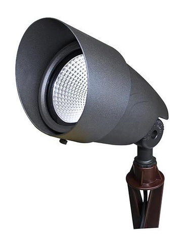 12 VOLT AC/DC INTEGRATED LED LANDSCAPE UPLIGHT, BRONZE, LFLV-7W-30K