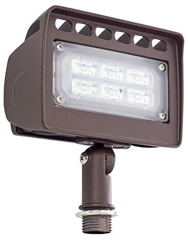 12 VOLT AC (AC/DC ON 6W & 12W) INTEGRATED LED WALL WASH LIGHTS, BRONZE, LF4-12V-6W-30K