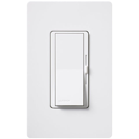 Dimmable CFL/LED Dimmer White .Lutron Diva(DVCL-153PR-WH)