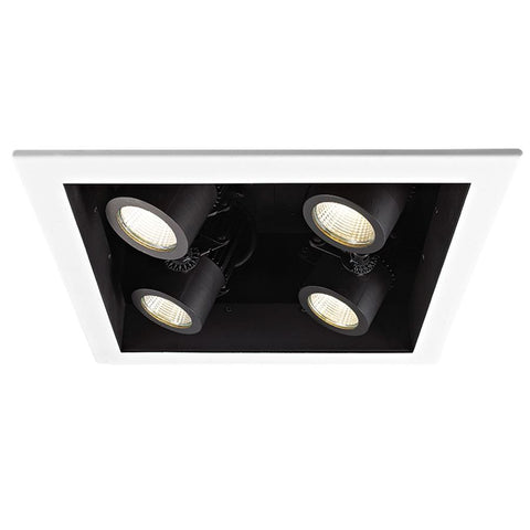 LED MT NEW CONST HOUSING - 4 LGT 3000K (MT-4LD226N-F30-BK) by WAC US