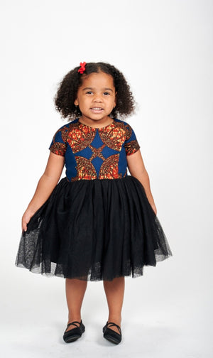 Ire Tulle African Print Dress Kids