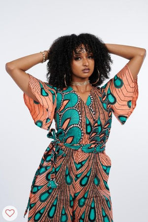 Chito African Print Jumpsuit