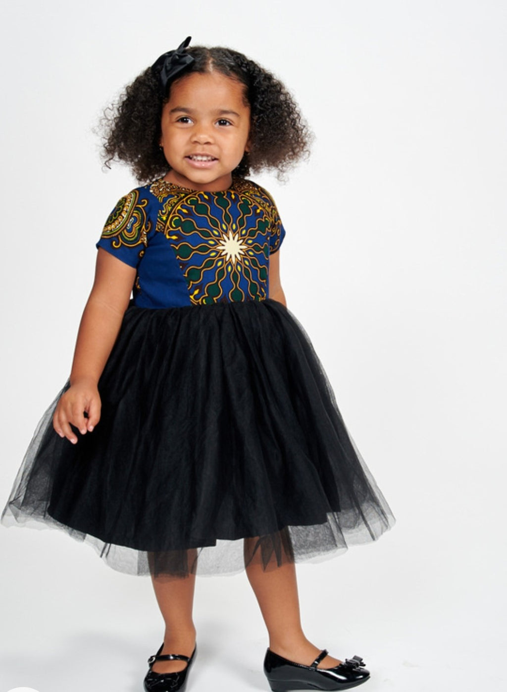 Lami African Print Dress Kids (Blue)