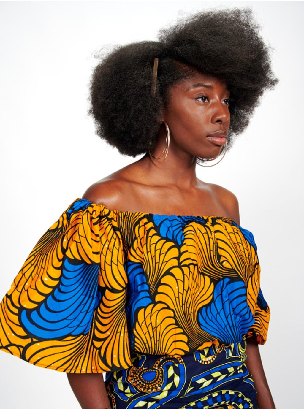 Gbemi African Print Off Shoulder Top