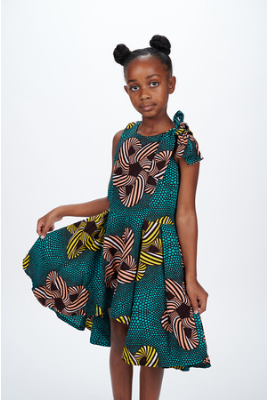 Ashani African Print Dress - Kids
