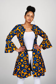 Sikemi African Print Jacket Dress