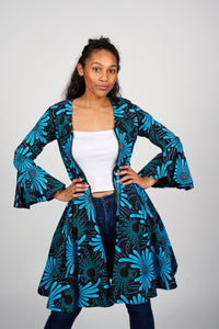 Fikemi African Print Jacket Dress