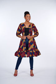 Lonimi African Print Jacket Dress