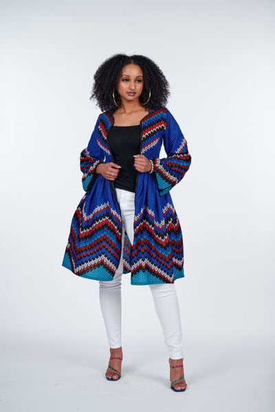 Motun African Print Jacket Dress
