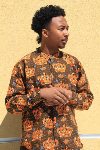 Crown Men's African Print Shirt