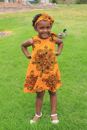 Zahra African Print Babies dress