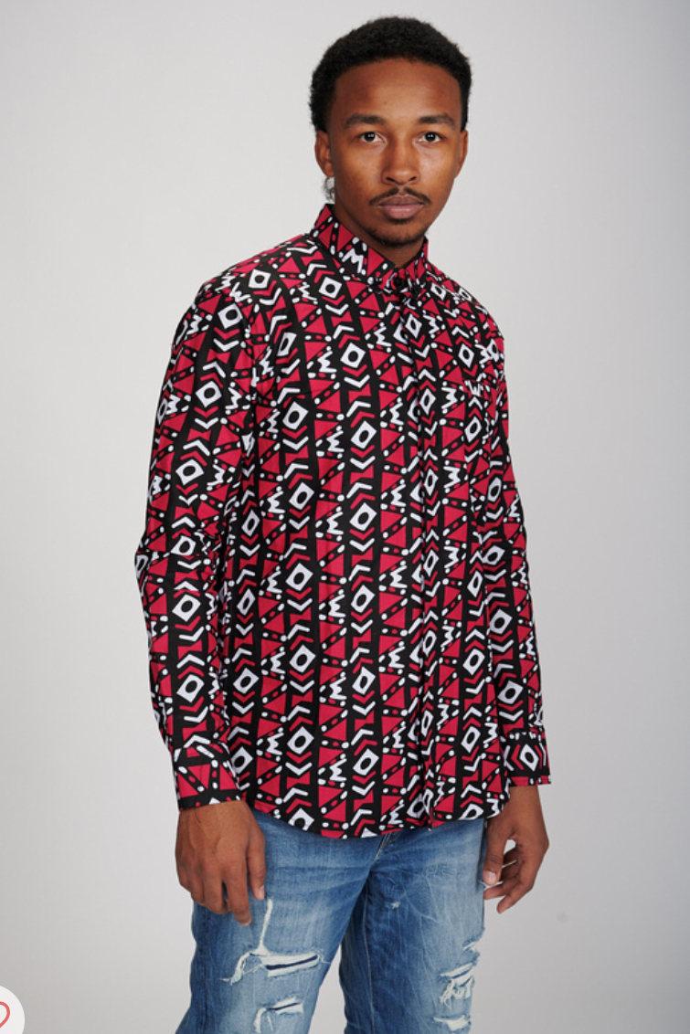 Bayo long Sleeve African Print Shirt