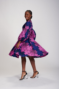 Mide African Print Wrap Dress